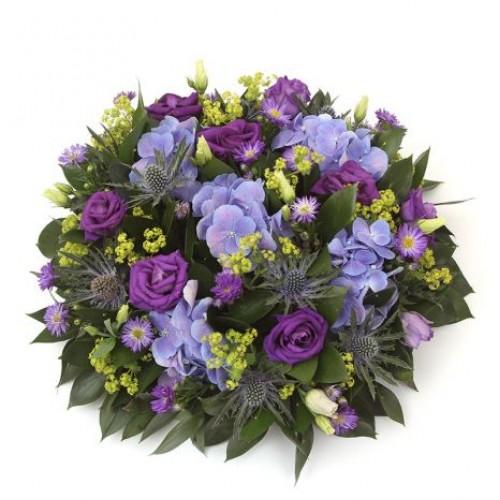 Blue and Purple Posy