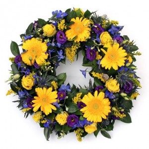 Gold and Blue Wreath