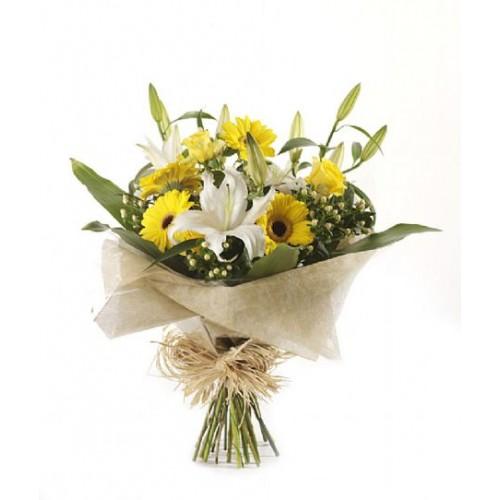 Wedding Flowers Cheltenham: Sunny Glow Bouquet