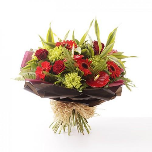 Wedding Flowers Cheltenham: True Red Bouquet
